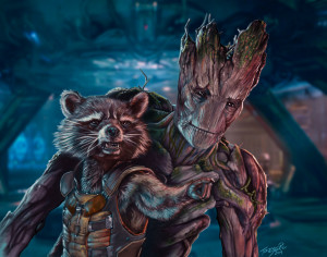 Rocket and Groot - by Tony